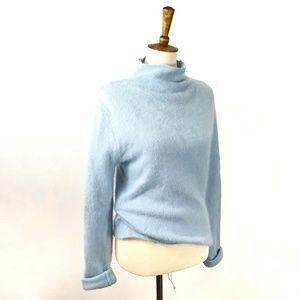 Twiggy Angora Rabbit Hair Wool Fuzzy Sweater, L